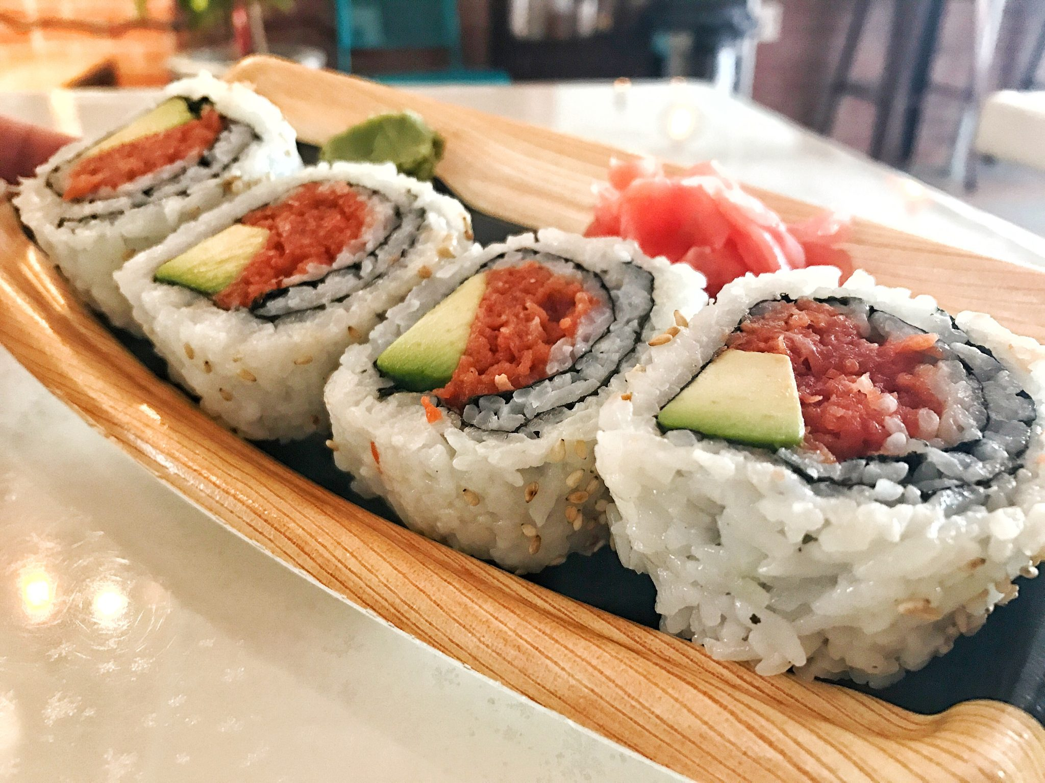 Spicy Tuna Roll from 969 NYC Coffee Jackson Heights Queens NYC