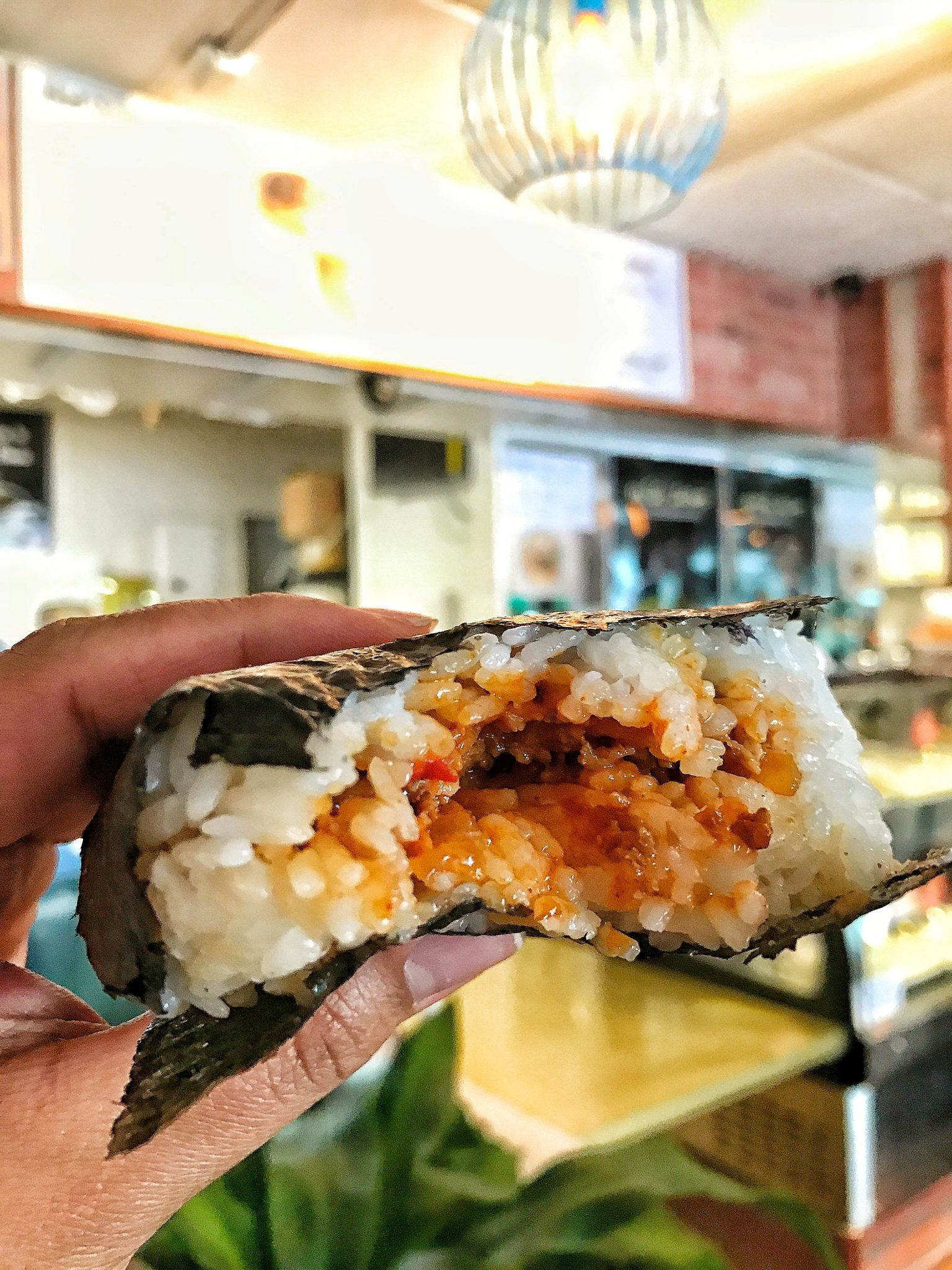 Spicy Pork Onigiri from 969 Coffee Jackson Heights Queens NYC