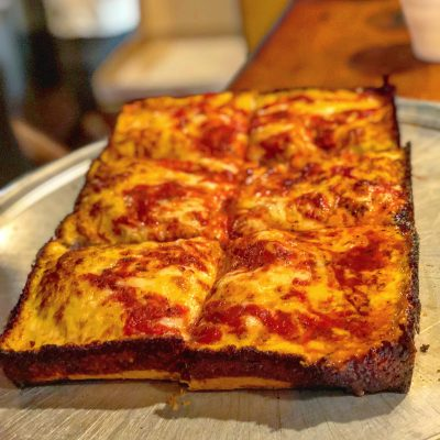 Detroit Style Pizza Astoria at Boston Pizza