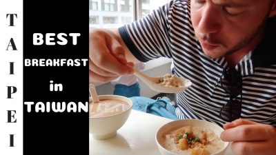 Eating Taiwanese Breakfast in Taipei Day Trip to Shifen Waterfall Vlog