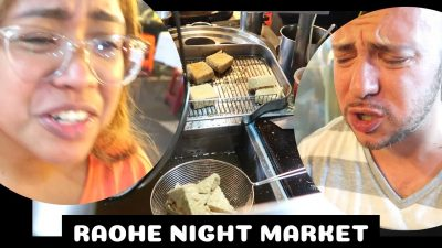 Raohe Night Market Trying Stinky Tofu