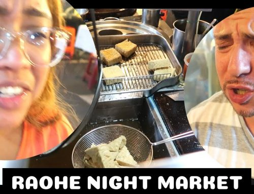 Raohe Night Market and Trying Stinky Tofu in Taipei (Vlog)